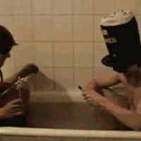 firecrackers in bathtub