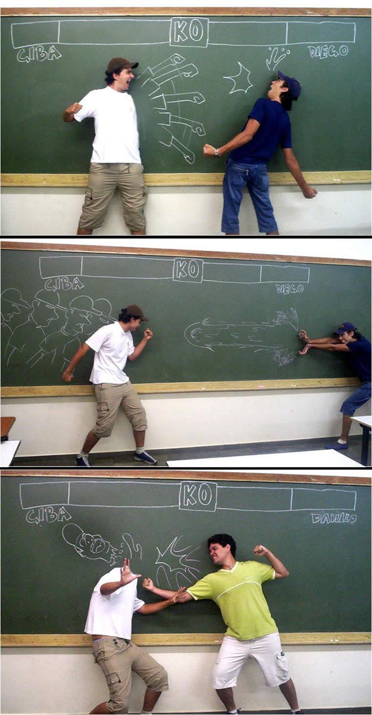 black board fight