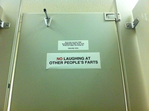 NO LAUGHING AT OTHER PEOPLE