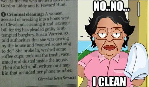 no no.. i clean