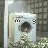 What happens when you throw a brick in a washing machine?